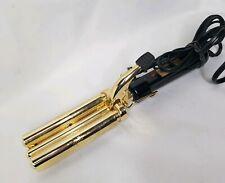 Vidal Sassoon Triple Barrel Hair Wave  in Gold and Black 57W Model VS184