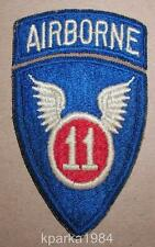 WW2 ERA ELEVENTH AIRBORNE INFANTRY DIVISION w/ ATTACHED TAB