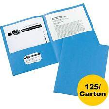 Avery 2-Pocket Folder Letter-size 20Sh/Pocket 125/CT Light Blue 47986CT
