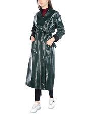 MAISON MARTIN MARGIELA MM6 green faux leather/vinyl trenchcoat
