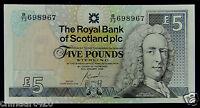SCOTLAND Banknote 5 Pounds 2005 UNC