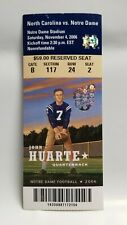 Notre Dame Irish North Carolina 2006 Football Ticket Stub John Huarte Heisman