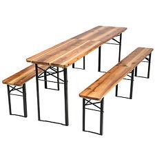 Conjunto de mobiliario bancos de jardín plegable y sillas de cervecería 219cm nu