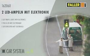 "Faller 162060 Spur N - CAR- SYSTEM "" 2 LED- Ampeln mit Elektronik "" NEU und OVP"
