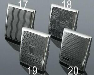 Metal Cigarette Case Silver Tobacco Holder Silver Steel Box Brand New