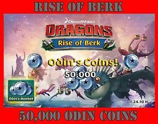 Dragons : Rise Of Berk 50,000 ODIN COINS cheat package Android iOS
