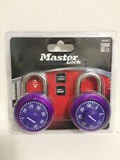 "Master Lock 1530T Combination Padlock, Bright Metallic, 1-7/8"" Pack Of 2 New!"
