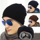 Homme Femme Crochet Tricot Laine Chapeau Mode Bonnet Baggy Beret Hiver Chaud