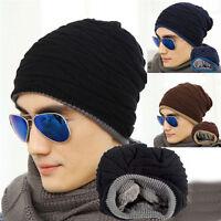 New Men Women Winter Warm Crochet Knit Plicate Baggy Beanie Wool Hat Skull Cap