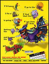 BRAIN DEAD 13__Original 1995 Print AD / game promo__PC__Sega CD__3DO__ReadySoft