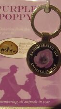Australian army purple poppy pet utility clip cat dog horse remembrance day tag