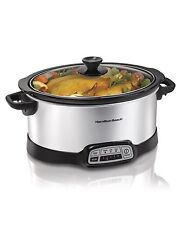 Hamilton Beach 33473 Programmable Slow Cooker 7 Quart Cooking Chef Crock Pot NEW