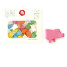 Pigs P-51 Paper Clips - Cute Kawaii Japanese -Made for Japan- Midori