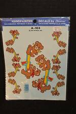 Vintage Decorcal Handpainted Decals 'Teddy Bears on Teeter Totter' A-103