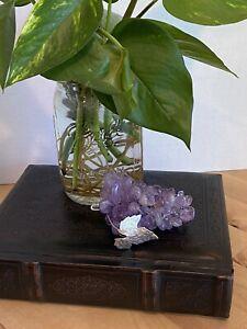 Vintage Quartz Stone Purple Amethyst Grape Bunch 1960-1970's