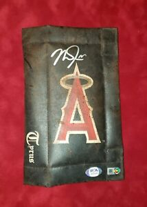 2018 Los Angeles Angels signed Mike Trout Game Used Tyrus Pine Tar Rag w/MLB COA