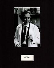 James D. Watson Autographed Mat Piece! Jim! DNA Discovery! Double Helix! Rare!