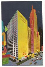 SHERATON CHICAGO HOTEL Cartoon Colorful Illustration ART Illinois Postcard IL