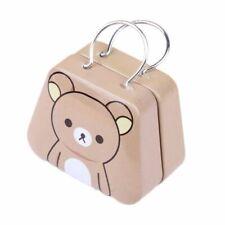 Cute Jewelry Case Storage Box Mini Metal Capsule Handbag Tinplate Coin Bag b