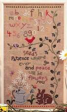 Designs By Charlotte SEEDS OF PATIENCE SAMPLER Cross Stitch Chart/Leaflet Only