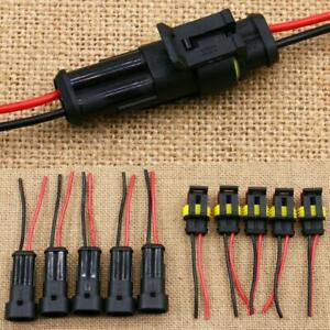 5pair 2 Pin Car Boat Wire Connector Plug Terminal Sealed Waterproof Electrical