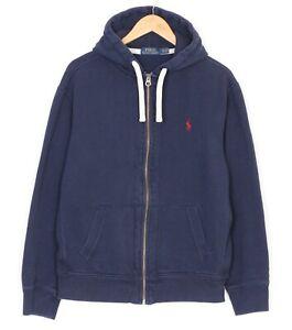 POLO RALPH LAUREN Full Zip Navy Blue Hoodie Sweatshirt Men Size XL