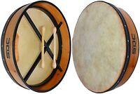 NATURAL BODHRAN DRUM Irish Celtic 18 Inch Drums + CASE