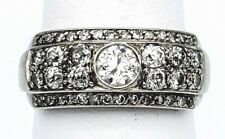 ESTATE PLATINUM & 1.4 CARAT OLD EURO J/K SI DIAMOND RING 7.3 GRAMS SIZE 7