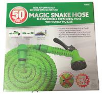Magic Expanding Snake Hose 50ft Free Spray Gun  Hose Flexible Garden 70365c