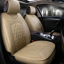 5-Seats All Car Front & Rear Seat Cover Mat Chair Cushion PU Leather Durable BCL