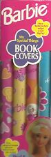 Vintage 1999 Barbie Peel n' Stick Book Covers - Pack of 4