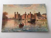 Vintage Postcard Unposted Tuck Tuck's Carnarvon Castle Menai Straits