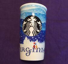NOS Starbucks Virginia Double Wall Traveler, 12 fl oz Ceramic Tumbler Coffee Tea