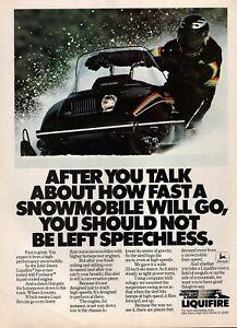 1982 John Deere Liquifire Snowmobile Original Color Ad