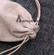 30 Pcs Small Drawstring Burlap Linen Jewelry Pouch Wedding Favor Gift Bags