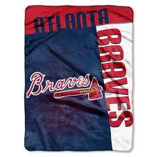 Atlanta Braves 60x80 Royal Plush Throw Blanket - Strike Design [NEW] MLB Warm