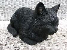 More details for brand new dreaming black cat garden ornament
