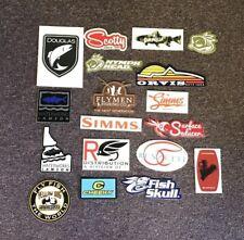 18 Fly Fishing Stickers #18D Orvis Simms Lamson Umpqua Scotty Renzetti Douglas
