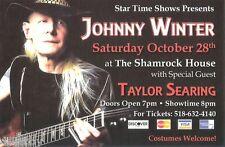 Johnny Winter Concert Handbill Flyer 2006