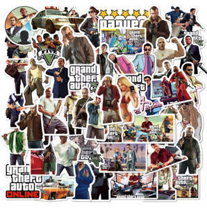 GRAND THEFT AUTO STICKERS PACK OF 50 GTA SELF ADHESIVE XBOX PLAYSTATION