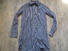 MAISON SCOTCH schöne lange blau weiß karierte Bluse Gr. 1 NEUw. KoS817