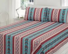 Designer Zig-Zag Lined Bed Sheets And Pillow Set by Gul Ahmed