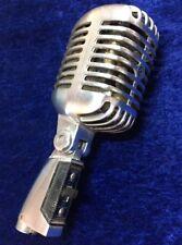 Vintage Shure PE55 Elvis Presley Unidyne Dynamic Classic Chrome Microphone Mic