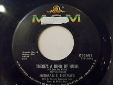 Herman's Hermits There's A Kind Of Hush / No Milk Today 45 1967 MGM Vinyl Record