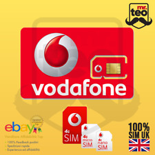 SIM vodafone UK 100% Anonymous 100% Safe already active! Ready to Use