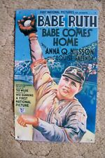 "(013) BABE RUTH METAL SIGN  16"" X 10"" COLORFUL!  1993 REPRODUCTION. SEE MORE++"