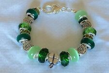 Shamrock Green European Bracelet Pugster And Good Luck Charms St. Patrick's Day