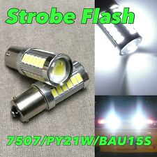 STROBE FLASH Rear Signal Bulb BAU15S 7507 PY21W 33 SMD LED 6000K White W1 JAE