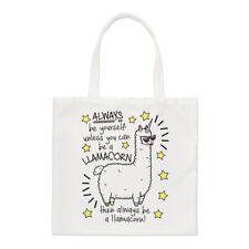 Siempre Sé Yourself Llamacorn Pequeño Bolso de Mano - Unicornio Llama Mágico