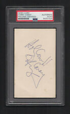 Harry Caray Signed 3x5 Card-PSA/DNA Slab-Baseball Cubs Holy Cow inscript D-1998